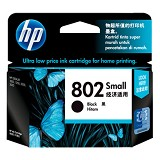 HP Small Black Ink Cartridge 802 [CH561ZZ] - Tinta Printer Hp